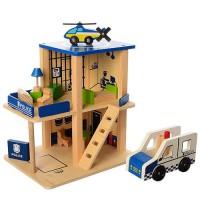 Деревянная игрушка 'Гараж Полиция' (MD 1059-1)