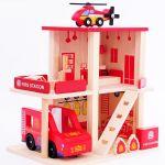 Деревянная игрушка 'Гараж Пожарная' (MD 1059-2 )