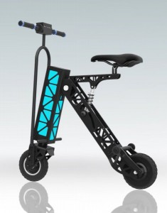 Электрический минибайк EnerGenie 1K (синяя подсветка)