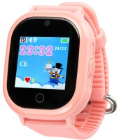 Детские умные водонепроницаемые часы Motto с GPS трекером Smart Baby Watch TD-05 Pink