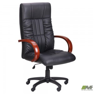 Кресло Art Metal Furniture 'Консул НВ' 622-B High-Back Black PU+PVC , HL018 Mech, кожзам черный (031128)