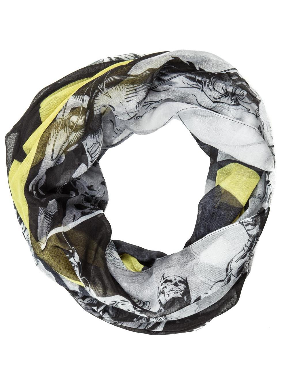 Купить Шарф Bioworld 'Batman logo on black and white all over infinity scarf' (SF3P2RBTM)