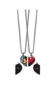 Подарок Две парные подвески Bioworld 'DCO Harley And Joker 3d Heart Necklaces' (FJ30ABDCO)