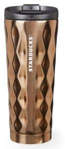 Подарок Термокружка Starbucks 3D, золото, 500 мл