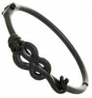 Подарок Браслет Bioworld 'Harry Potter - death eater hinged cuff (matte black)' (BV45WFHPT)