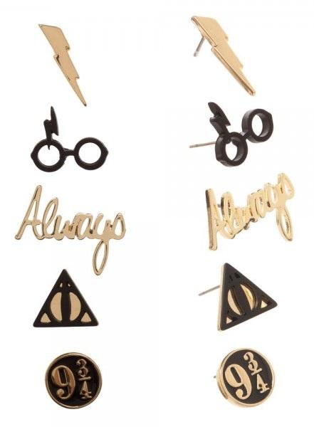 Набор сережек Bioworld 'Harry Potter - 5 pack petite earring set' (EG5LDYHPT)  - купить со скидкой
