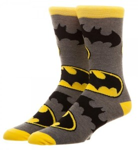 Подарок Носки Bioworld 'Comics Men's Batman Logo Large All Over Printed Socks' (CR5DBRBTM)