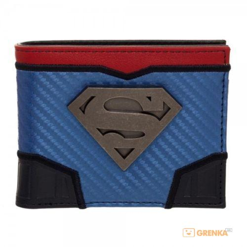 Купить Бумажник Bioworld 'DC Comics Superman Carbon Fiber Metal Badge Bifold Wallet' (MW5ELQSPM)