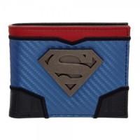 Подарок Бумажник Bioworld  'DC Comics Superman Carbon Fiber Metal Badge Bifold Wallet' (MW5ELQSPM)