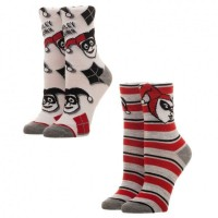 Подарок Носки Bioworld 'DC Comics Harley Quinn Juniors 2 Pack Crew Socks (XS5S41BTM)