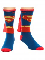 Подарок Носки Bioworld 'DC Comics  Superman Costume Crew Socks With Cape' (CR0JA2SPM)