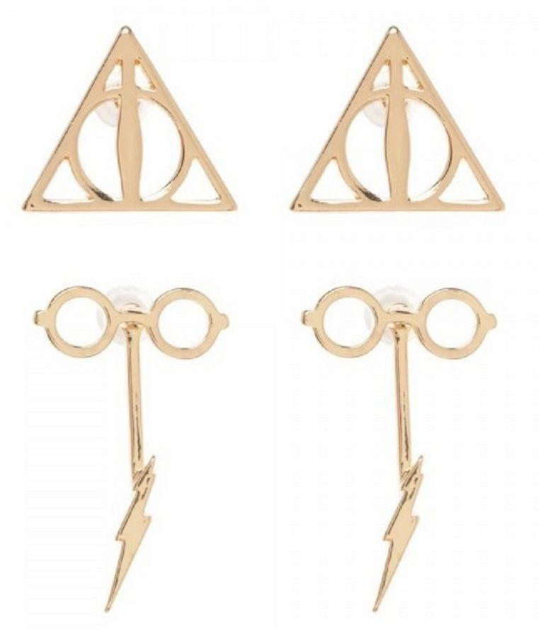 Купить Серьги Bioworld 'HPT - glasses & bolt f/b earrings w/deathly hallows' (EG5LDXHPT)