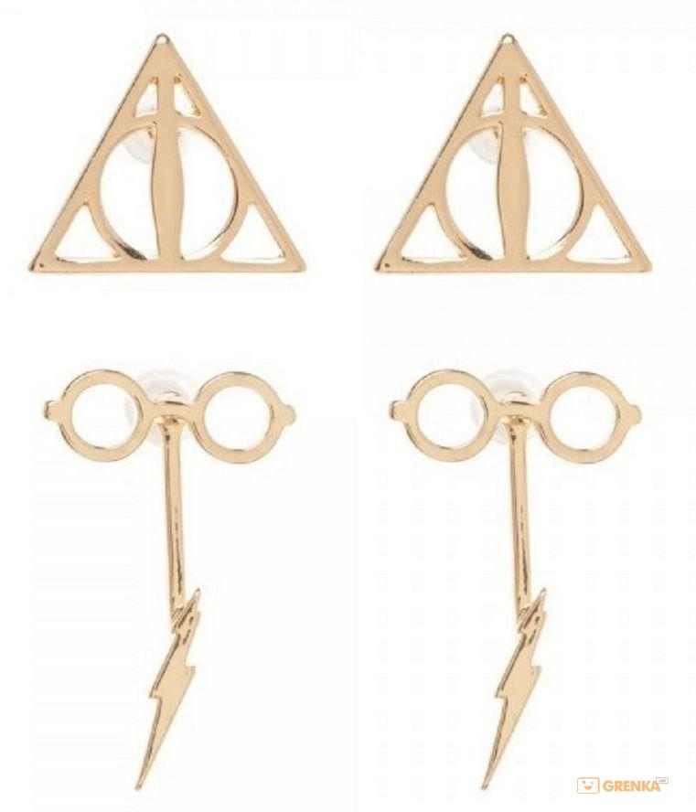 Купить Серьги Bioworld 'HPT - glasses & bolt f/b earrings w/deathly hallows' (EG5LDXHPT)