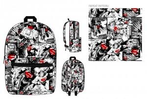 Рюкзак Bioworld 'Quick turn Superman color pop aop print backpack' (BQ4AFESPM)
