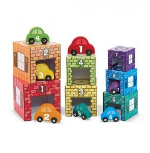 Набор блоков-кубов Melissa & Doug  'Автомобили и гаражи' (MD12435)