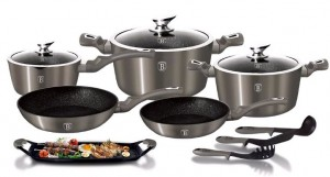 Набор посуды Berlinger Haus 'Carbon Metallic Line' 12 предметов (BH-1697)