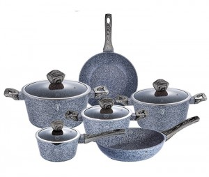Набор посуды Berlinger Haus 'Forest Dark Gray' 10 предметов (BH-1577)