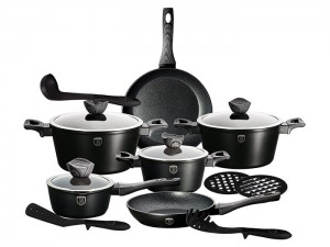 Набор посуды Berlinger Haus 'Ebony Maple Line' 15 предметов (BH-1538)