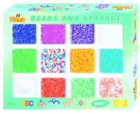 Термомозаика HAMA  Набор цветных бусин, 9.600шт 10 цветов и 2 смеси цветов Midi 5+ (028178020958)