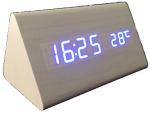 Подарок Часы 'Wooden Clock' белый треугольный