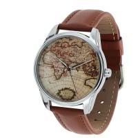 Подарок Часы наручные ZIZ 'Карта' коричневый (1404303)