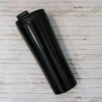 Термокружка металлическая ZIZ 'Черная' (420 мл)
