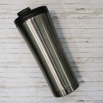Термокружка металлическая ZIZ 'Темная сталь' (420 мл)