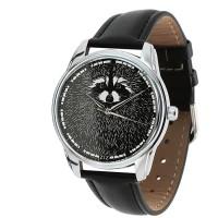 Подарок Часы наручные ZIZ 'Енот' черный (1412201)