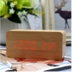 Подарок Часы цифровые светодиодные, натуральные