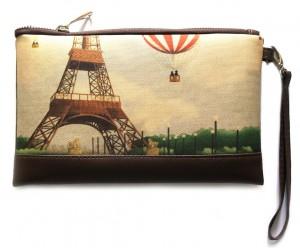 Подарок Клатч ZIZ 'Париж с воздушным шаром' (25142)