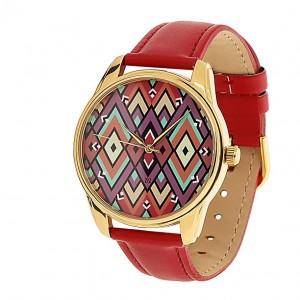 Подарок Часы наручные ZIZ 'Ромбы' красный (1415612)