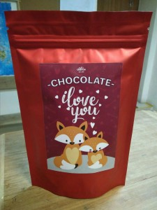 Подарок Шоколад Candy's 'I love you' (лисички)