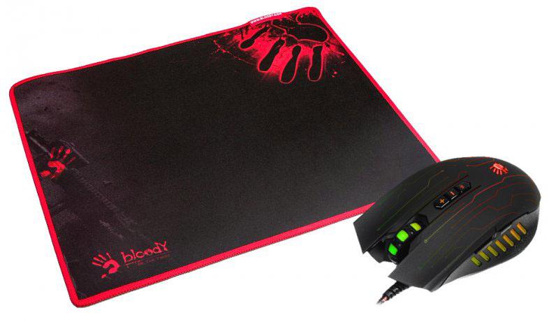 Купить Игровой набор A4 Tech Bloody Q8181S (мышь Bloody Q81+ игровой коврик Bloody), A4Tech