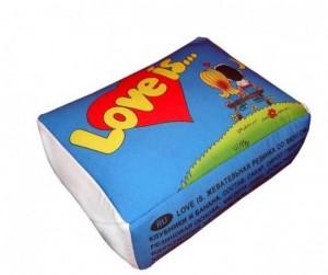 фото Подушка 'Love is...' Голубая #2
