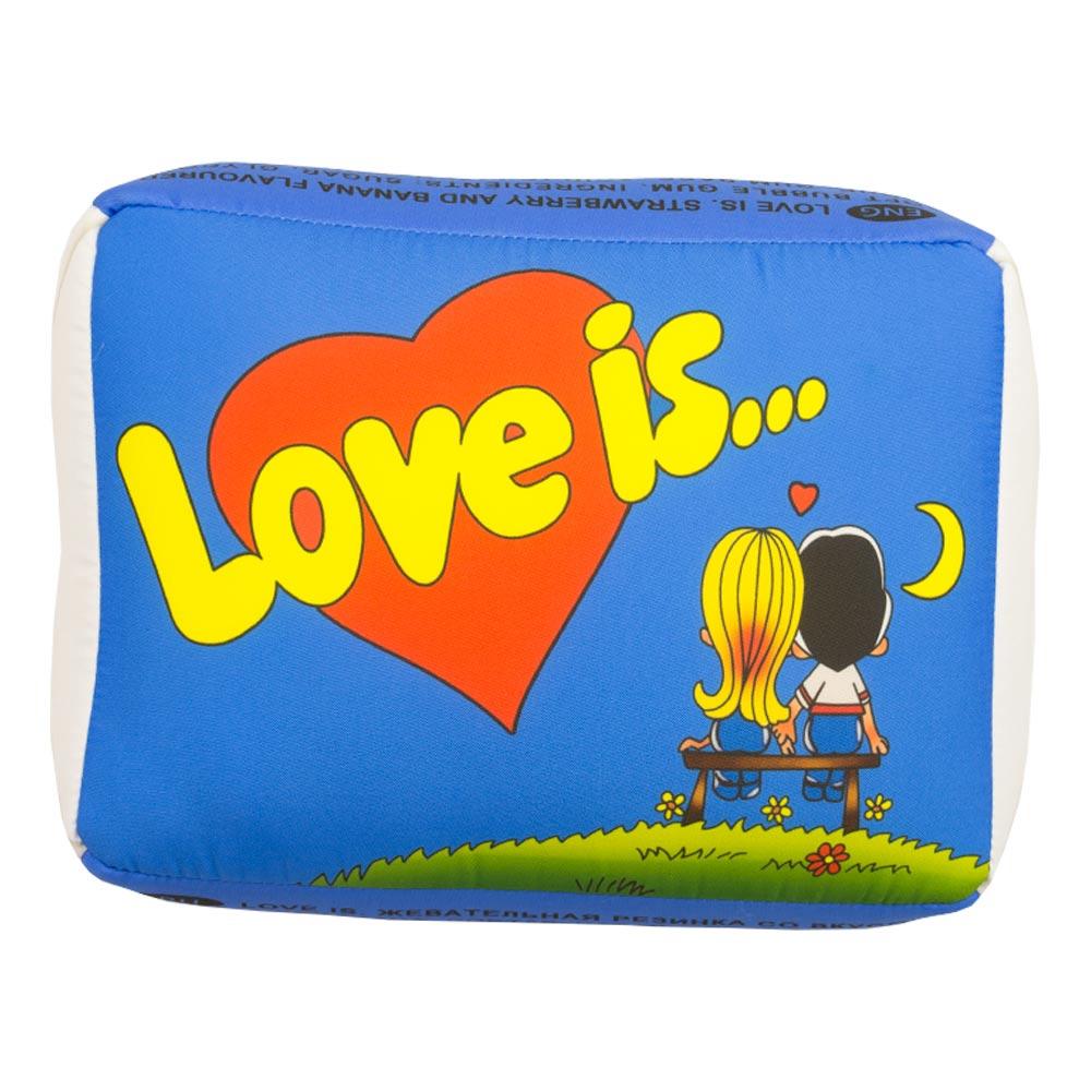 Купить Подушка 'Love is...' Голубая, Украина