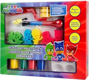 Набор для малышей с красками PJ Masks 'Рисуем с героями в масках'