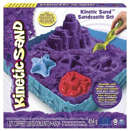 Купить Набор песка для детского творчества Wacky-tivities KINETIC SAND ЗАМОК ИЗ ПЕСКА, фиолетовый' (71402P)