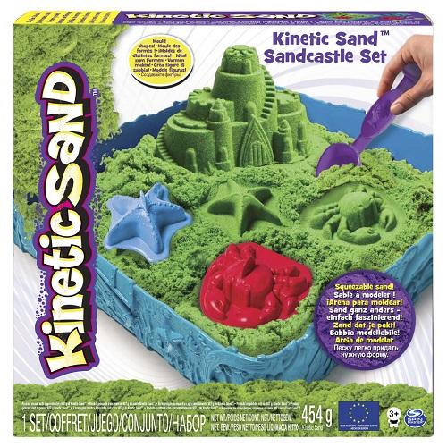 Купить Набор песка для детского творчества Wacky-tivities KINETIC SAND ЗАМОК ИЗ ПЕСКА, зеленый' (71402G)