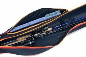 фото Чехол Lineaeffe жесткий для удилищ с катушками+наружный карман 135 см (6536013) #2