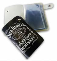 Подарок Кожаная кредитница Pasportu ' Jack Daniel's', 20 карт