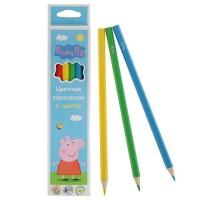 Кольорові олівці Peppa Pig 6 кольорів (119699)