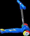 Самокат Орион 164 в.2 с цветными колесами, синий