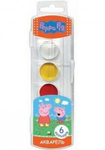 Фарби акварельні медові 'Peppa Pig' 6 кольорів