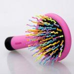 Подарок Радужная щетка для волос с зеркалом