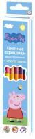Карандаши цветные двусторонние Перо Peppa Pig (6 шт 12 цветов)