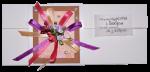 Вітальна листівка 'Хай злива щастя і добра на тебе ллється, як з відра!' (232518)