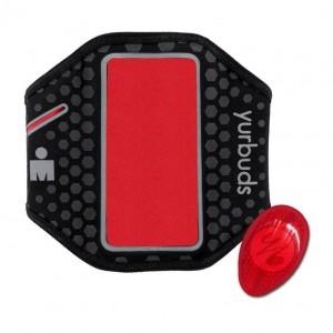 Наручный чехол для смартфона JBL YURBUDS Universal Ergosport LED Armband Black/Red (YBIMUARM02BNR)