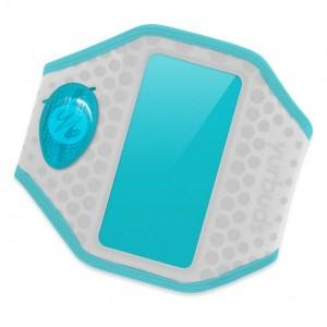 Наручный чехол для смартфона JBL YURBUDS iPhone 5 Ergosport LED Armband Gray/Aqua for women (YBWNARMB02GNA)