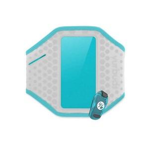 Наручный чехол для смартфона JBL YURBUDS Universal Ergosport LED Armband - Gray/Aqua for women (YBWNUARM02GNA)