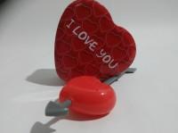 Подарок Набор Чай в жестяной коробочке в форме сердца и заварник 'сердце'
